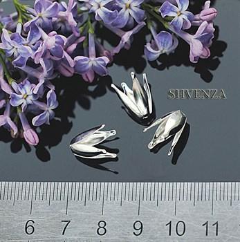 Шапочки для бусин цвет - серебро 001-002 - фото 4531