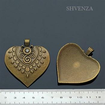 Подвеска Сердце крупная 005-010 - фото 5427