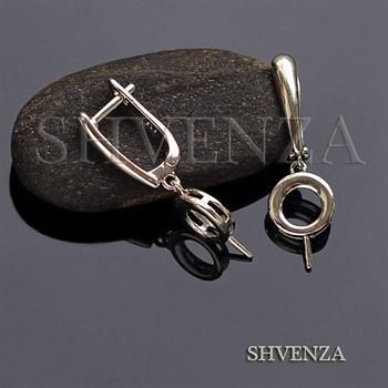 Швензы родиевое покрытие цвет серебро английский замок 017-056 - фото 7223