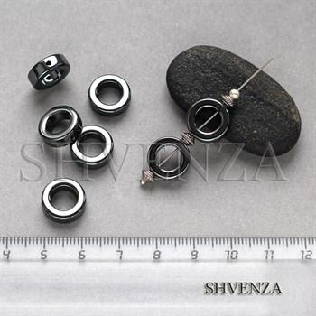 Бусины гематит рамка круглая 12мм 006-059 - фото 7294