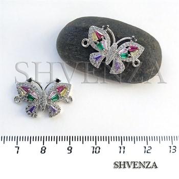 Коннектор бабочка цвет серебро 021-104 - фото 7371
