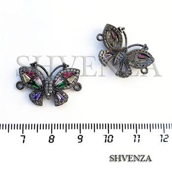 Коннектор бабочка цвет чёрный 021-105 - фото 7375