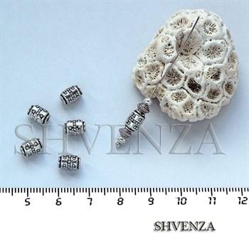 Металлические бусины трубочки цвет серебро 007-023 - фото 7520