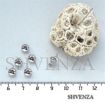 Бусины рондели цвет серебро 021-109 - фото 7579