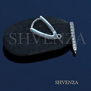 Швензы родиевое покрытие цвет серебро 014-222 - фото 7591
