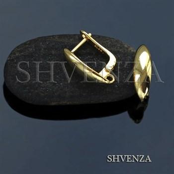 Швензы родиевое покрытие цвет золото английский замок 017-076 - фото 7606
