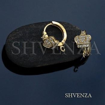 Швензы короны родиевое покрытие цвет золото колечки 013-133 - фото 7617