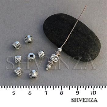 Металлические бусины цвет античное серебро 007-040 - фото 7668