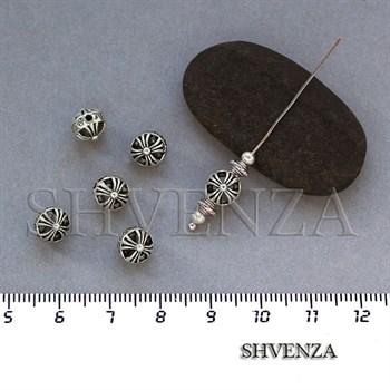 Металлические бусины цвет античное серебро 007-047 - фото 7687