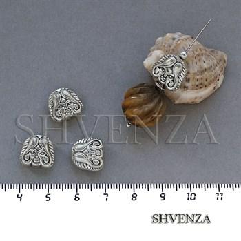 Металлические бусины цвет античное серебро 007-061 - фото 7819