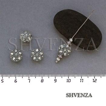 Металлические бусины цвет античное серебро 007-064 - фото 7825