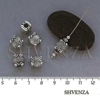 Металлические бусины цвет античное серебро 007-066 - фото 7829