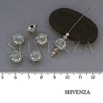 Металлические бусины цвет античное серебро 007-068 - фото 7833