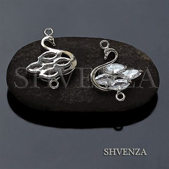 Коннектор лебедь цвет серебро 021-121 - фото 7865