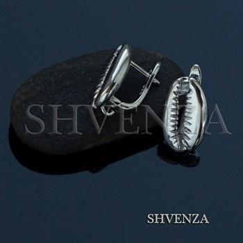 Швензы родиевое покрытие цвет серебро английский замок 017-087 - фото 8025