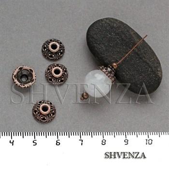 Шапочки для бусин цвет медь 001-126 - фото 8145