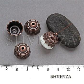 Шапочки для бусин цвет медь 001-128 - фото 8149