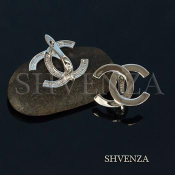 Швензы родиевое покрытие цвет серебро английский замок 017-100 - фото 8196