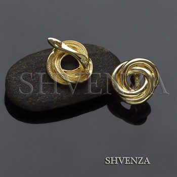 Швензы родиевое покрытие цвет золото английский замок 017-104 - фото 8227