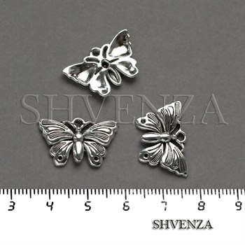 Подвеска металлическая Бабочка цвет серебро 005-031 - фото 8250