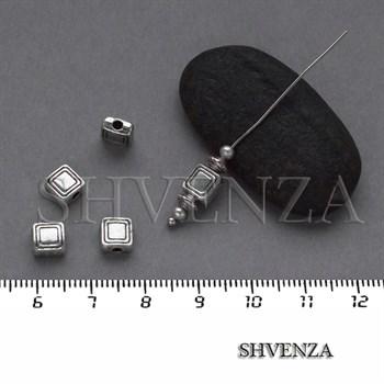 Металлические бусины цвет античное серебро 007-093 - фото 8330