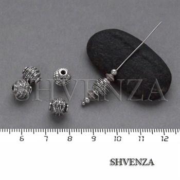 Металлические бусины цвет античное серебро 007-095 - фото 8340