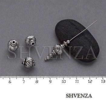 Металлические бусины цвет античное серебро 007-097 - фото 8344