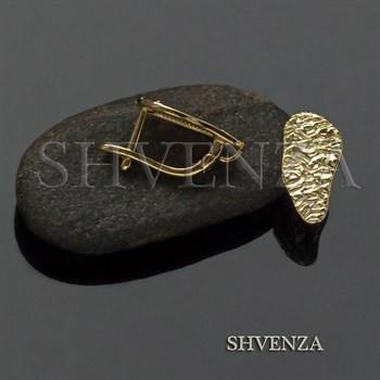 Швензы родиевое покрытие цвет золото английский замок 017-108 - фото 8362