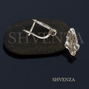Швензы родиевое покрытие цвет серебро английский замок 017-111 - фото 8368