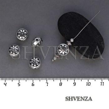 Металлические бусины цвет античное серебро 007-112 - фото 8435