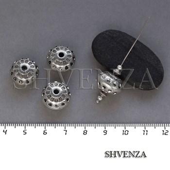 Бусина акриловая цвет античное серебро 029-009 - фото 8461