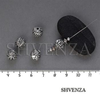 Металлические бусины цвет античное серебро 007-121 - фото 8467