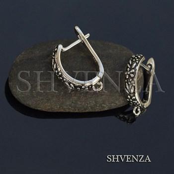 Швензы родиевое покрытие цвет серебро английский замок 017-116 - фото 8483