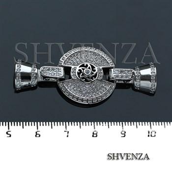 Замочек с фианитами цвет серебро 011-028 - фото 8510