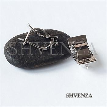 Швензы родиевое покрытие цвет серебро английский замок 017-124 - фото 8587