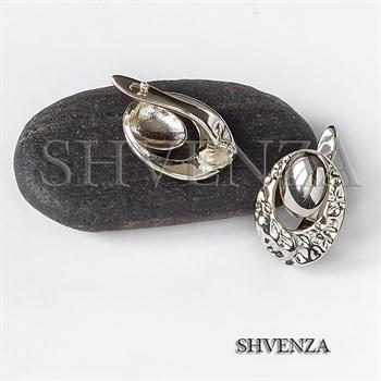 Швензы родиевое покрытие цвет серебро английский замок 017-130 - фото 8609