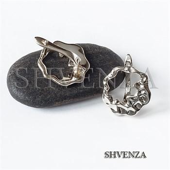Швензы родиевое покрытие цвет серебро английский замок 017-132 - фото 8613