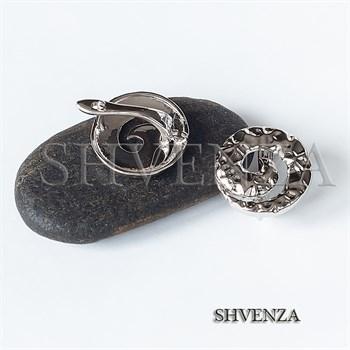 Швензы родиевое покрытие цвет серебро английский замок 017-134 - фото 8619