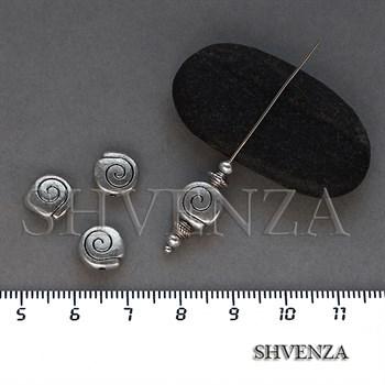 Металлические бусины цвет античное серебро 007-126 - фото 8629