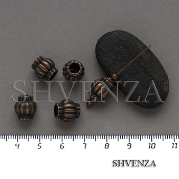 Металлические бусины цвет медь 007-141 - фото 8665