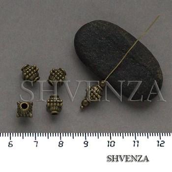 Металлические бусины цвет бронза 007-143 - фото 8670