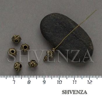 Металлические бусины цвет бронза 007-144 - фото 8672