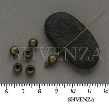 Металлические бусины шарик цвет бронза 007-145 - фото 8674