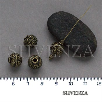 Металлические бусины цвет бронза 007-146 - фото 8676