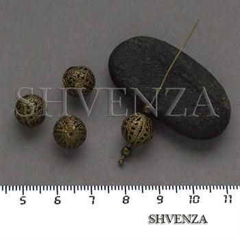 Металлические бусины цвет бронза 007-147 - фото 8678