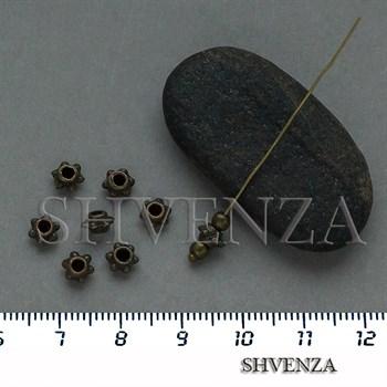 Металлические бусины рондели цвет бронза 007-165 - фото 8738