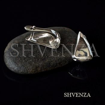 Швензы родиевое покрытие цвет серебро английский замок 017-143 - фото 8747