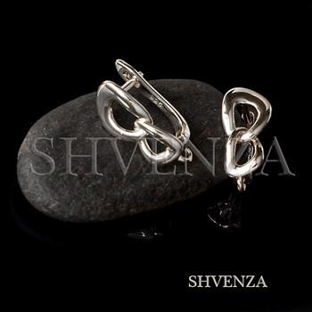 Швензы родиевое покрытие цвет серебро английский замок 017-148 - фото 8757