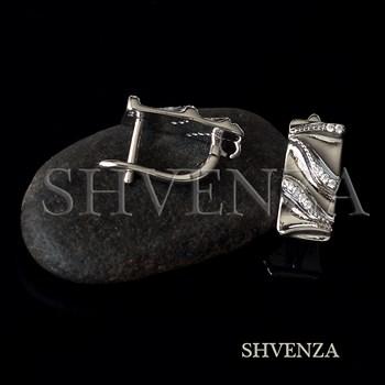 Швензы родиевое покрытие цвет серебро английский замок 014-277 - фото 8769