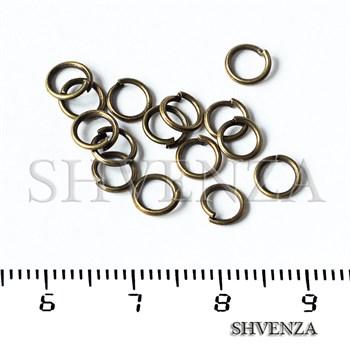 Колечко соединительное разъёмное 5 мм цвет бронза 019-012 - фото 8775